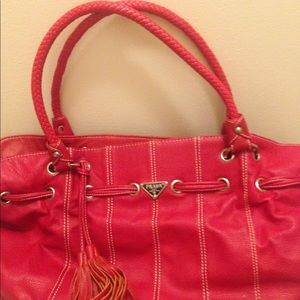 Handbags - Red leather purse from Italy. Great condition.